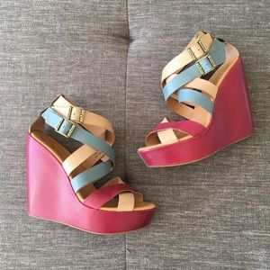 Kork-Ease colorful Hailey wedge sandals 7